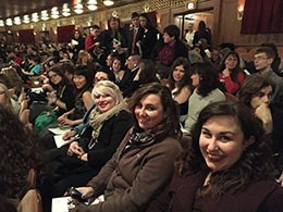 IU East students attend the mariachi opera in Chicago. Photo by Jessica Raposo.