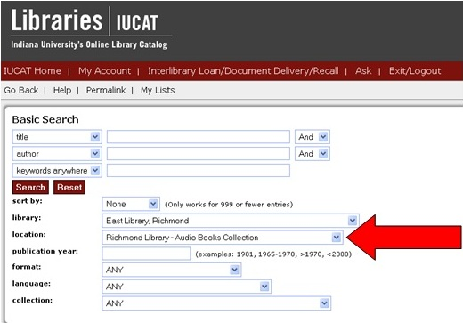 iucat screenshot
