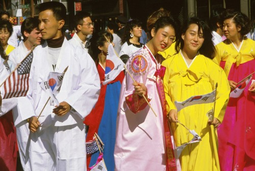 korean american parade image via imagequest