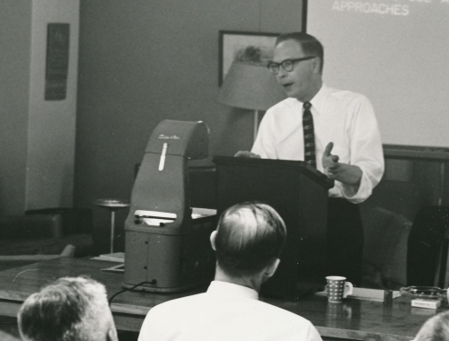 Grohsmeyer lecturing