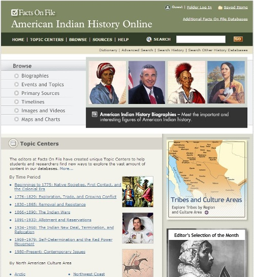 American Indian History Online screenshot