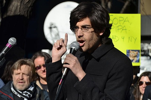 Aaron Swartz photo by Daniel J. Sieradski
