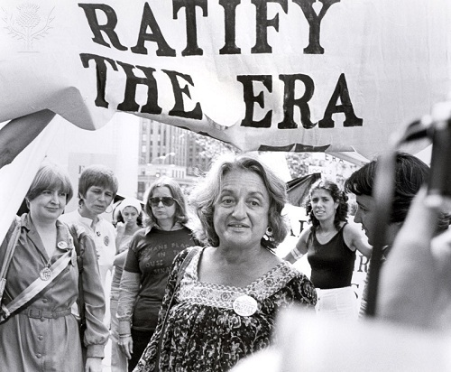 BETTY FRIEDAN AT WOMENS MARCH by Eric Kroll photo via ImageQuest