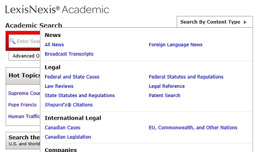 lexis nexis search