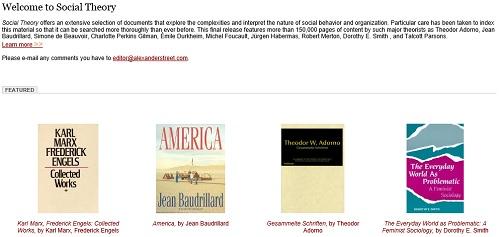social theory ebooks
