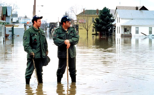 Indiana Air National Guard emergency operation after flooding in Fort Wayne Indiana by United States Air Force