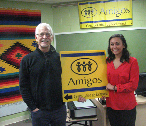 Shyanna and Howard Lamson at Amigos First Day 1-16-15