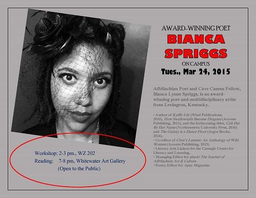 Bianca Spriggs flyer