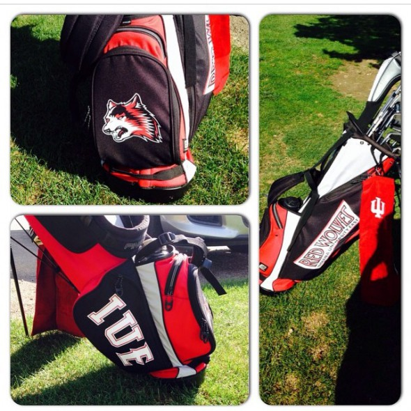 My IU East Golf Bag!